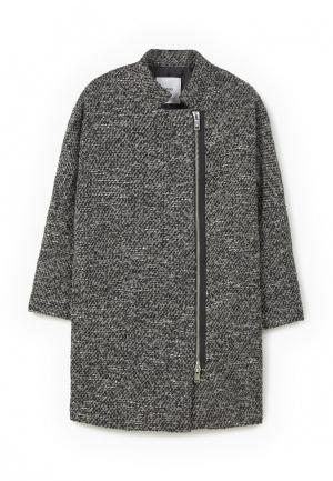 Пальто Mango. Цвет: серый