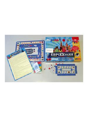 Настольная игра Европолия  PLAY LAND. Цвет: бежевый, красный, коралловый, золотистый, кремовый, желтый, белый, черный, лазурный, зеленый, бирюзовый, индиго, серый, коричневый, голубой, лиловый, малиновый