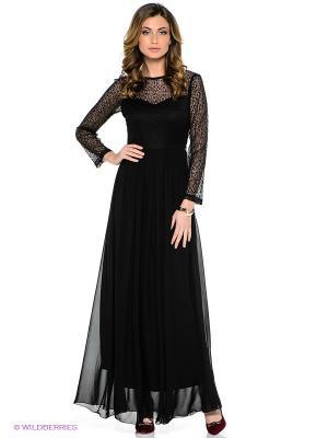 Платье TOPSANDTOPS. Цвет: черный