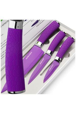 Набор ножей 3 пр. Mayer&Boch. Цвет: фиолетовый