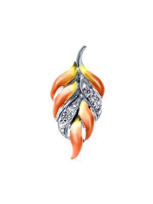 Подвеска Teosa. Цвет: серебристый, оранжевый, желтый