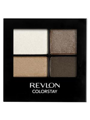 Тени для век четырехцветные Colorstay Eye16 Hour Eye Shadow Quad, Moonlit 555 Revlon. Цвет: белый