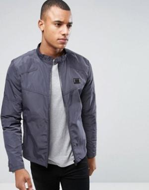 Born Rich Байкерская куртка. Цвет: серый