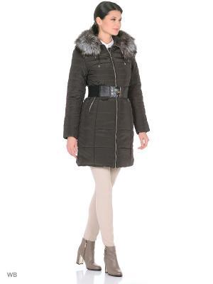 Куртка Finery Geo. Цвет: оливковый