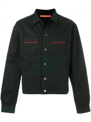 Джинсовая куртка с контрастными деталями Komakino. Цвет: чёрный