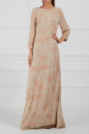 Платье с отделкой HOSS INTROPIA. Цвет: бежевый