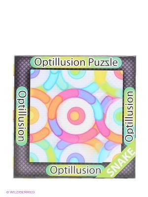 3D пазл-игра Оптические иллюзии Змейка Magna Puzzle. Цвет: голубой, желтый, фиолетовый