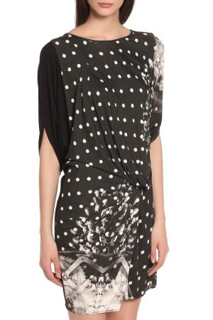 Универсальное легкое платье с рисунками Oblique. Цвет: черный-белый