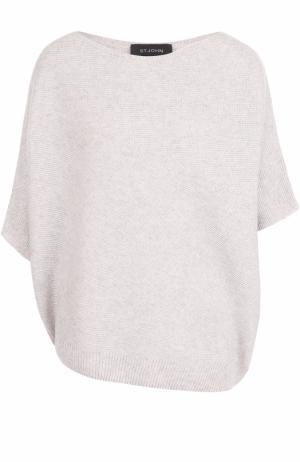 Кашемировый пуловер с вырезом-лодочка St. John K50N001