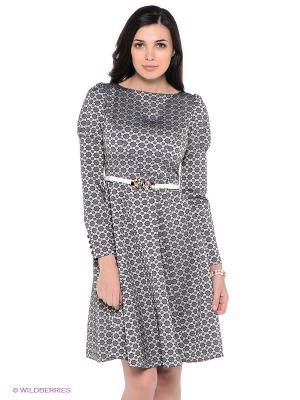 Платье Ksenia Knyazeva. Цвет: серый, синий