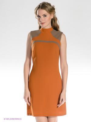 Платье TOPSANDTOPS. Цвет: рыжий