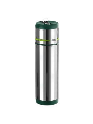 Термос-фляга EMSA MOBILITY 0.5л зел/нерж 512963. Цвет: зеленый, серый