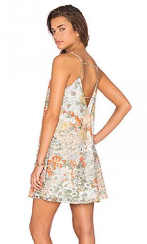 Мини платье a line Lucca Couture. Цвет: зеленый