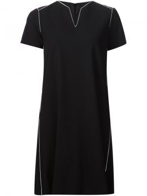 Платье-шифт с короткими рукавами Lafayette 148. Цвет: чёрный