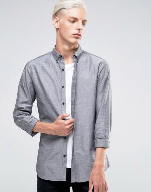 Troy Оксфордская рубашка. Цвет: черный
