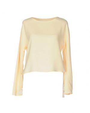 Блузка NANUSHKA. Цвет: светло-желтый