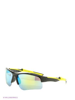 Солнцезащитные очки Vita pelle. Цвет: зеленый, желтый