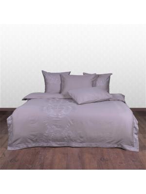 Комплект постельного белья Роял солтворкс, кремневый 180х220/160х200х30/60х60/50х70 Helgi Home. Цвет: серый