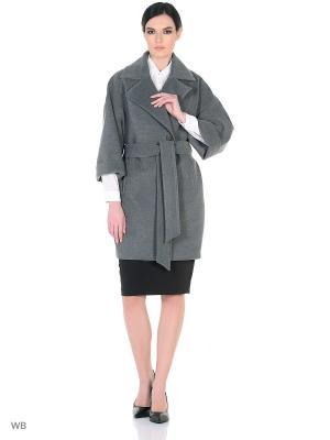 Пальто Жасмин XP-GROUP. Цвет: серый