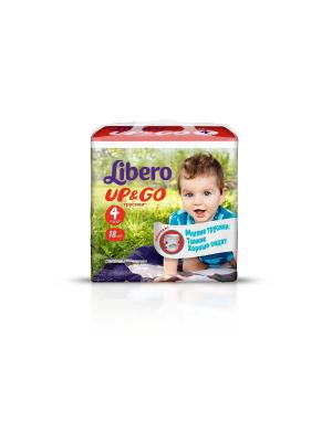 Libero Трусы детские одноразовые Up&Go макси 7-11кг 18шт упаковка маленькая. Цвет: зеленый
