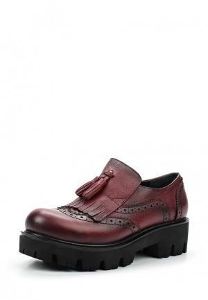 Ботинки Ascalini. Цвет: бордовый