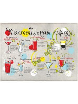 Полотенца Коктейльная карта, 2 шт., с петелькой GrandStyle. Цвет: черный, оливковый, красный, желтый