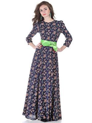 Платье OLIVEGREY. Цвет: темно-синий, зеленый, красный