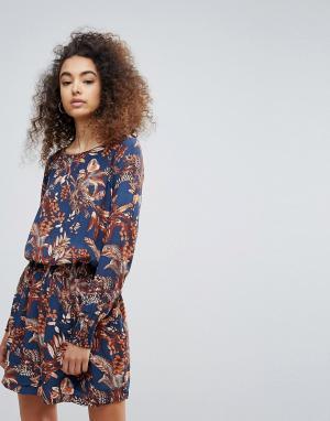 Gestuz Платье с цветочным принтом Getsuz Penny. Цвет: синий