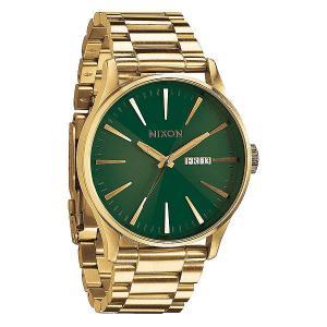 Часы  Sentry Ss Gold/Green Sunray Nixon. Цвет: желтый,зеленый