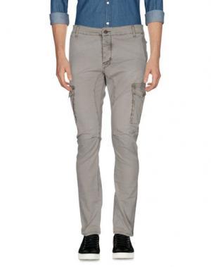 Повседневные брюки YES ZEE by ESSENZA. Цвет: светло-серый