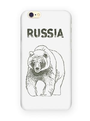 Чехол для IPhone 6 Медведь Mitya Veselkov. Цвет: белый, бежевый