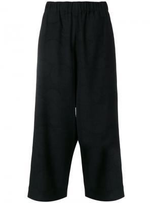 Укороченные брюки свободного кроя Uma Wang. Цвет: чёрный