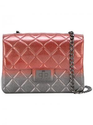 Сумка на плечо Milano Designinverso. Цвет: розовый и фиолетовый