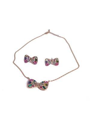 Комплект: ожерелье и серьги White Daisy. Цвет: оранжевый