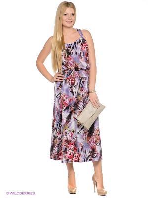 Платье МадаМ Т. Цвет: фиолетовый, розовый