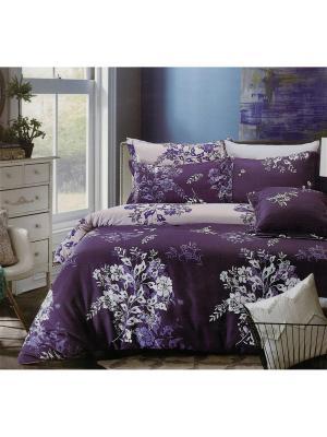 Комплект постельного белья 1,5 спальный Boris. Цвет: темно-синий