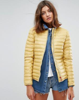Hunter Дутая куртка Original. Цвет: желтый