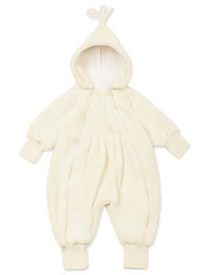 Плюшевый комбинезон для малыша BABY LION MilkyMama. Цвет: светло-бежевый