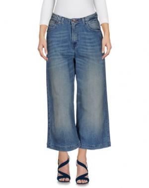 Джинсовые брюки-капри GARCIA JEANS. Цвет: синий