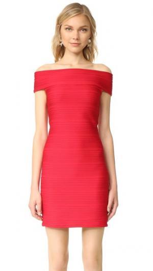 Платье с открытыми плечами Shoshanna. Цвет: рубиновый