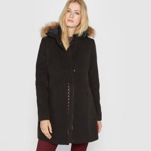 Короткое пальто для беременных R essentiel. Цвет: черный