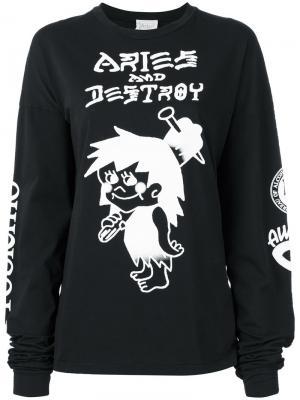 Snar longsleeved T-shirt Aries. Цвет: чёрный