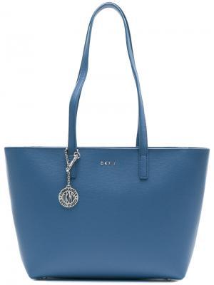 Средняя сумка-шоппер Donna Karan. Цвет: синий