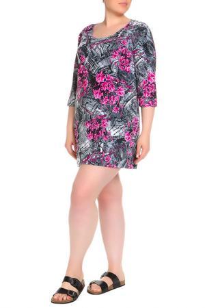 Платье домашнее LAVELLE. Цвет: розовый