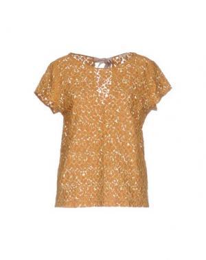 Блузка GOLD CASE SOGNO. Цвет: верблюжий