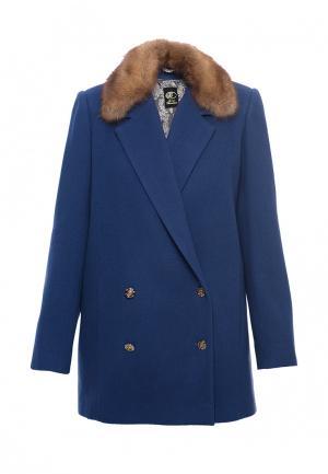 Пальто Anastasya Barsukova. Цвет: синий