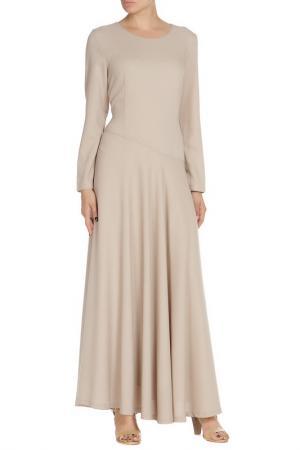 Платье-макси NATALIA PICARIELLO. Цвет: бежевый