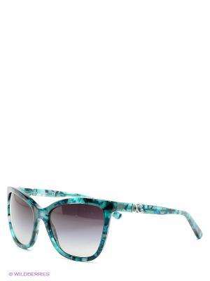 Очки солнцезащитные DOLCE & GABBANA. Цвет: черный, бирюзовый