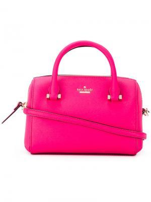 Сумка-тоут с логотипом Kate Spade. Цвет: розовый и фиолетовый