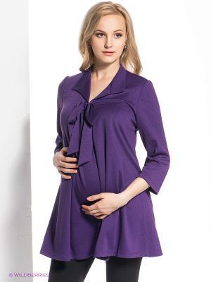 Блузка для беременных 40 недель. Цвет: фиолетовый